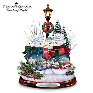 "Thomas Kinkade ""A Caroling We Will Go"" Musical Sculpture"