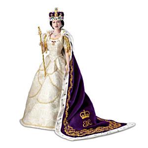 Queen Elizabeth II Poseable Porcelain Coronation Doll