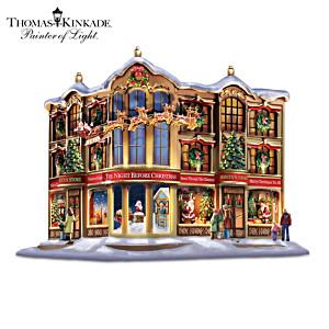 Thomas Kinkade Christmas Sculpture With Lights And Narration