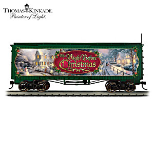 Thomas Kinkade Talking Christmas Train Box Car