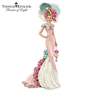 "Thomas Kinkade ""Blossoming Love"" Victorian Lady Figurine"