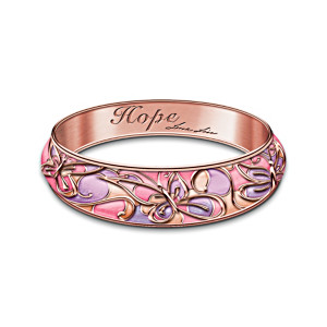 "Lena Liu ""Garden Of Hope"" Breast Cancer Awareness Bracelet"