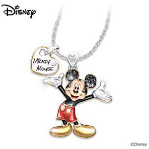 """Disney Magic In Motion"" Moving Mickey Mouse Pendant Necklace"