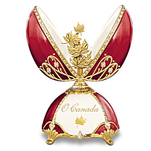 """O Canada"" Peter Carl Faberge-Inspired Musical Porcelain Egg"