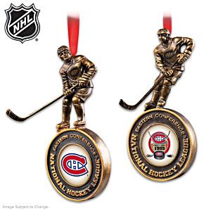 Montreal Canadiens® Cold-Cast Bronze Ornament Set