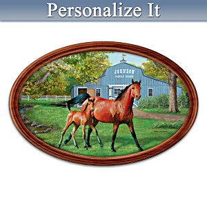"""Proud Heritage"" Collector Plate With Your Family Name"