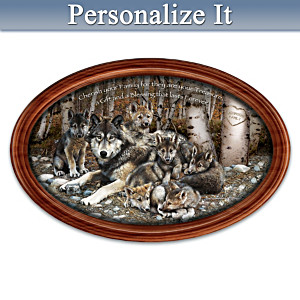 """Family Treasures"" Collector Plate With Your Family Name"