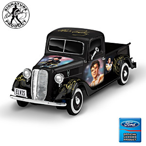 Elvis Tribute 1:34-Scale Sculpted Ford Truck With Portraits