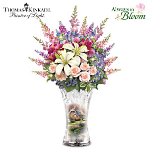 "Thomas Kinkade ""Everett's Cottage"" Illuminated Centerpiece"