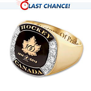 Hockey Canada Centennial Men's Ring With 10 Diamonds