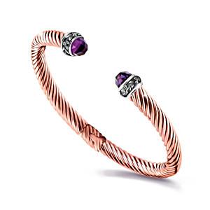 """Nature's Healing Treasures"" Copper Bangle Bracelet"