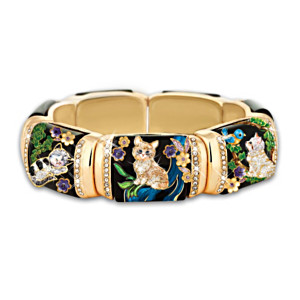 """Sophisticat"" Stretch Link Women's Cat Bracelet"