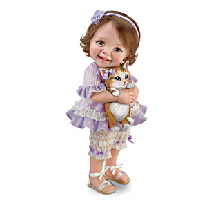 "Jane Bradbury ""Welcome Home, Kitty"" Poseable Child Doll"