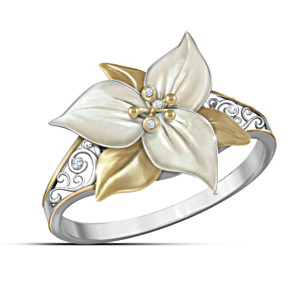 """Treasure Of The Trillium"" Ontario's Official Flower Ring"