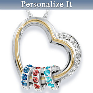 """""""Forever In A Mother's Heart"""" Personalized Pendant"""