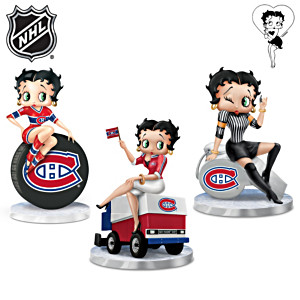 Betty Boop Montreal Canadiens® Fan Figurines: Set Of 3