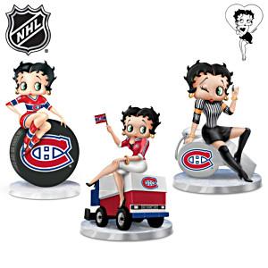Betty Boop Montreal Canadiens® Fan Figurines: Set Of 3