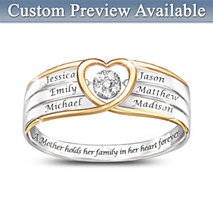 """In A Mother's Heart"" Brilliant Motions Diamond Ring"
