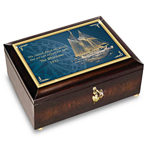 """The Bluenose"" Canadian Racing Schooner Music Box"