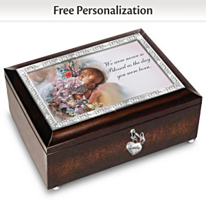 Loving Blessings Personalized Pink Music Box
