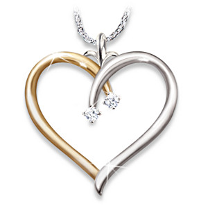 """My Darling Granddaughter"" Diamond Pendant Necklace"
