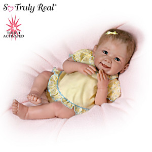 """""""Tummy Tickles"""" Touch-Activated Baby Doll By Linda Murray"""