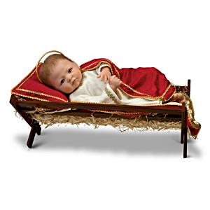 "Linda Murray ""Jesus, The Saviour Is Born"" Porcelain Baby Doll"