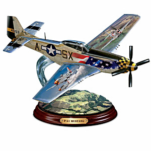 P-51 Mustang WWII Plane Sculpture
