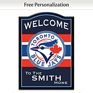 Toronto Blue Jays Welcome Sign Personalized With Name