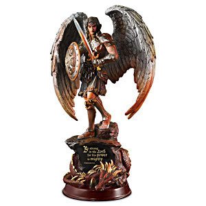 """St. Michael: Strength In The Lord"" Hand-Cast Masterpiece"