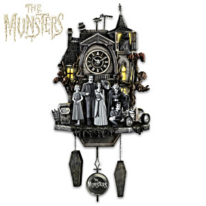 The Munsters Illuminated Musical Cuckoo Clock