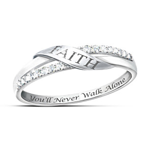 """The Faith"" Engraved Diamond Ring"