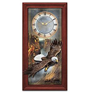 "Ted Blaylock ""Majestic Flight"" Bald Eagle Wall Clock"