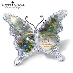 "Thomas Kinkade ""Hope"" Butterfly Sculpture"