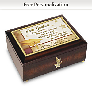 """Congratulations Graduate"" Personalized Heirloom Music Box"
