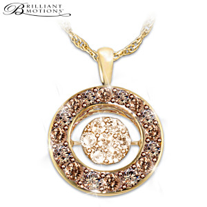 Brilliant Motions Diamond 18K Gold-Plated Pendant