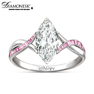 "Breast Cancer Support ""Shimmering Hope"" Ring"