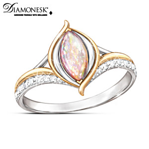 """""""World On Fire"""" Created Opal Ring"""