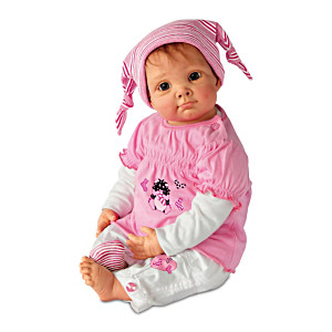 """Elly Knoops """"Julia And The Sock Goblin"""" Lifelike Baby Doll"""