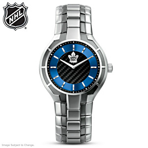 NHL®-Licensed Maple Leafs® Carbon Fiber Watch