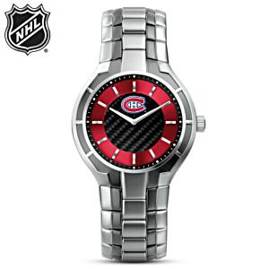 NHL®-Licensed Canadiens® Carbon Fiber Watch