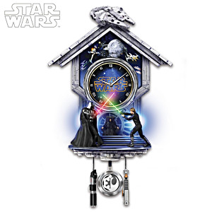 STAR WARS Sith Vs. Jedi Wall Clock With Light-Up Lightsabers
