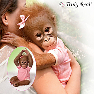 """Annabelle's Hugs"" Lifelike Baby Monkey Doll By Ina Volprich"
