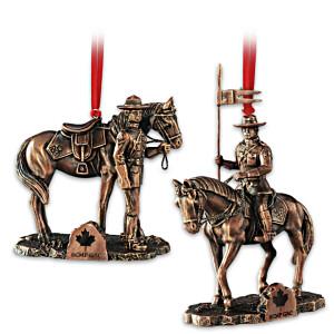 """Proud To Protect"" RCMP Cold-Cast Bronze Ornament Set"