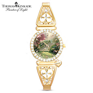 "Thomas Kinkade ""Stairway to Paradise"" Crystal Women's Watch"