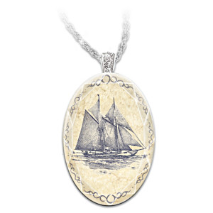 """Bluenose Schooner"" Crystal Pendant With Collector Card"