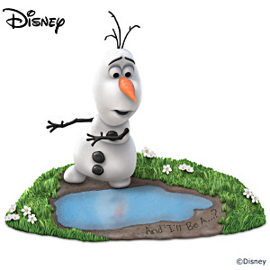 """Disney FROZEN """"And I'll Be a...?"""" Olaf Figurine"""