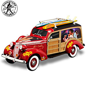 Elvis Aloha From Hawaii Woody Wagon Sculpture In 1:18 Scale