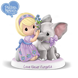 """Precious Moments Alzheimer's Awareness """"Love Never Forgets"""""""