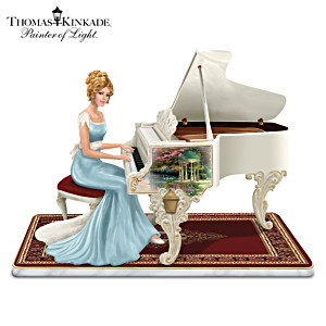 Thomas Kinkade Victorian Lady Plays Beethoven's Fur Elise
